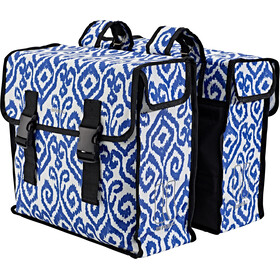 Basil Mara XL Luggage Pannier Double Bag L, 35l, indigo ikat